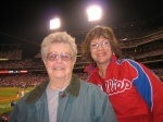 My Neighbor Joanne on her birthday at the ballpark