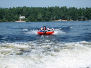 "Andrew has another ""first"" experience..tubing"