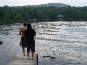 Simple pleasures; feeding the ducks on Danforth Bay
