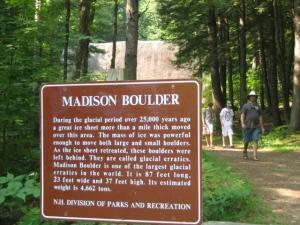 Madison Boulder in NH