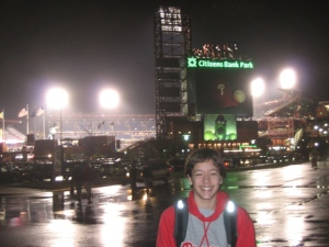 We finally make our way into the park for WS Game 3, 2008