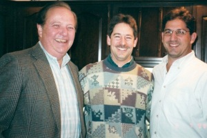 (L-R) Ken Breskin, Doug Breskin and Greg Breskin; Doug's 40th birthday, Feb. 1999