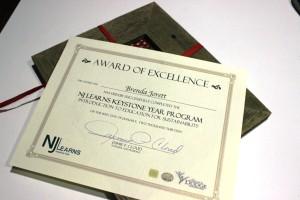 NJ Learns certificate & reclaimed wood frame by Matt Ryan -One Man Gathers Studio.