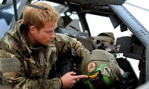 Prince Harry makes a pre-flight check