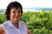 Author; from Abenaki Tower with view of Lake Winnipesaukee