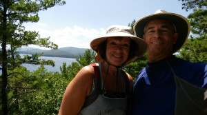Hiking up Rattlesnake Island- What a view!