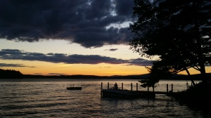 Westerly view from Tuftonboro, Lake Winnipesaukee, NH