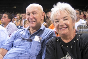 Dad & Mom at the Phillies 2007